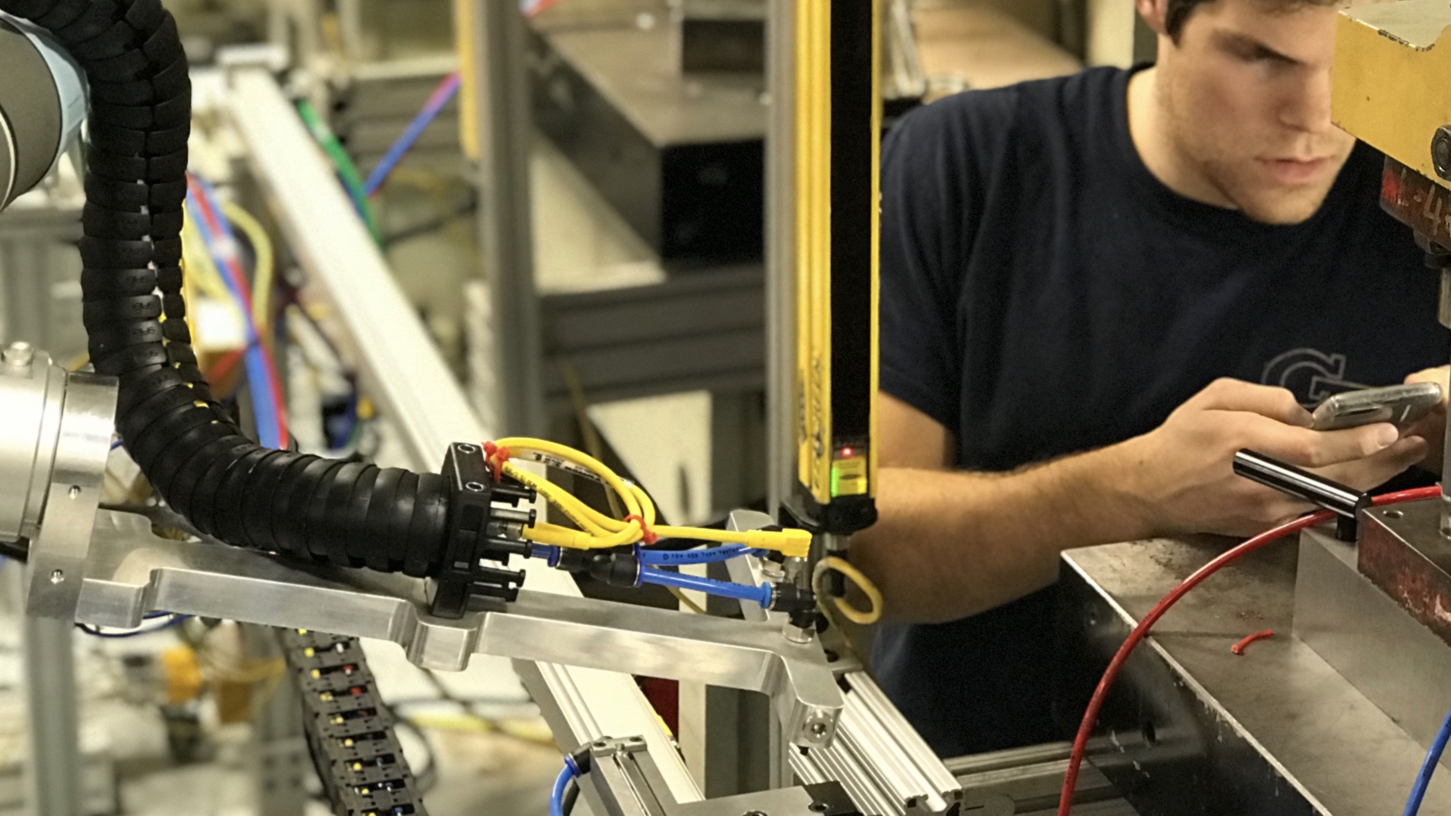 Hirebotics adjusting robot performance from mobile app